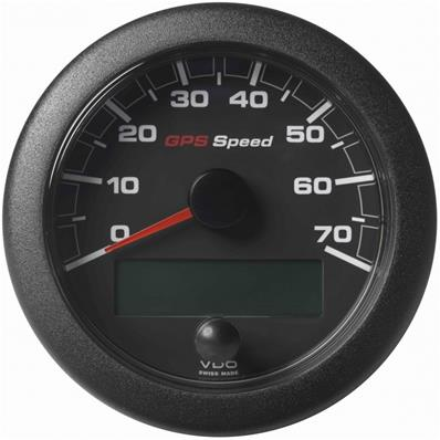 Speedometer VDO GPS SOG 0-70 Black 85 mm