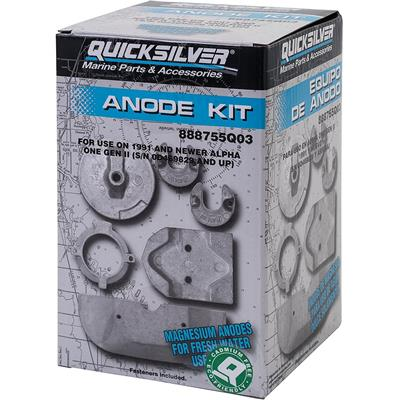 Kit Anodes Magnesium MERCRUISER pour Embase ALPHA One Gen II