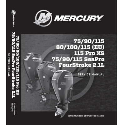 Service Manual MERCURY 75-115 EFI (2014 et +)
