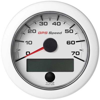 Speedometer VDO GPS SOG 0-70 White 85 mm