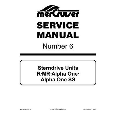 Service Manual MERCRUISER n°6 ALPHA ONE (1983-1990)